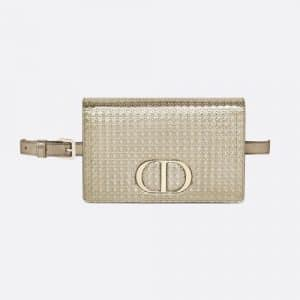 Dior Stardust Gold 30 Montaigne Metallic Calfskin 2-in-1 pouch