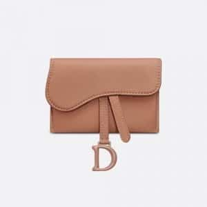 Dior Rose des Vents Saddle Matte Calfskin Pouch Bag
