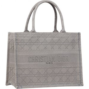Dior Grey Cannage Book Tote Bag - Prefall 2020