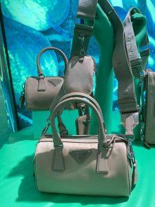 Prada Duffle Re-edition Bag - Grey