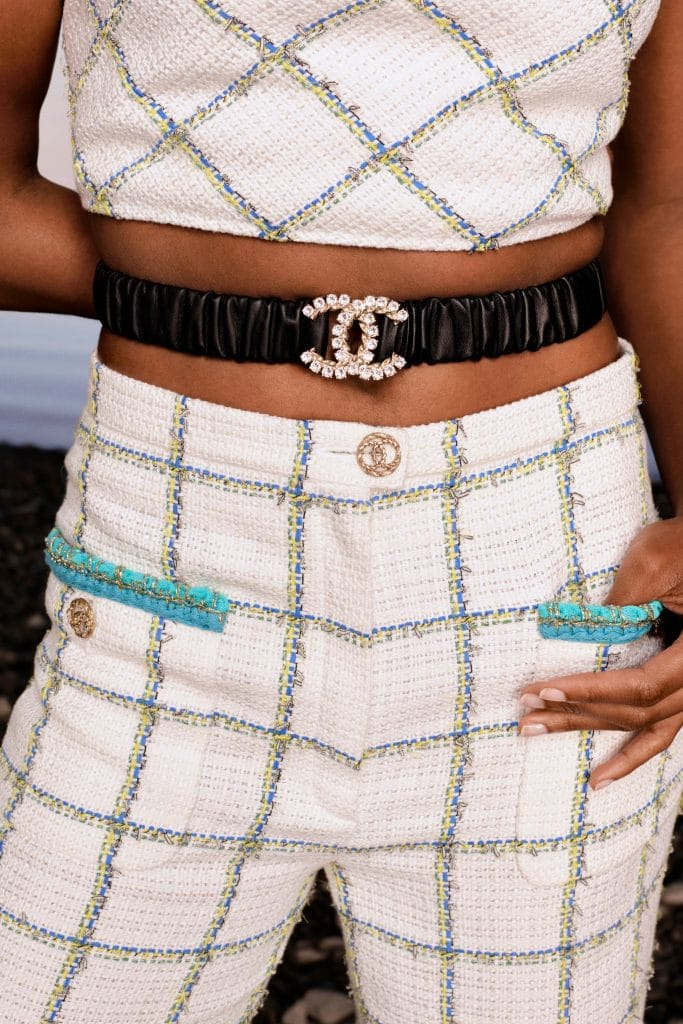 Chanel Shirred CC Leather Belt - Cruise 2021