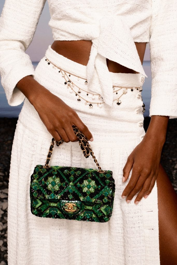 Chanel Green Sequins Flap Bag - Cruise 2021