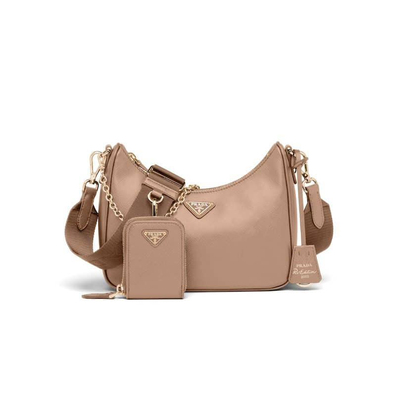 Prada Beige Saffiano Re-Edition 2005 Bag