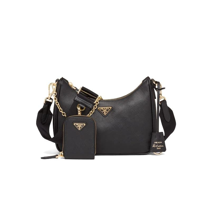 Prada Black Saffiano Re-Edition 2005 Bag