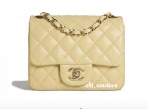 Chanel Beige Mini Classic Flap Bag - Cruise 2021
