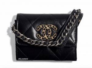 Chanel Black Chanel 19 Crossbody Clutch on Chain Bag - Cruise 2021