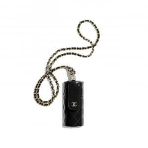 Chanel Black Patent Calfskin Lipstick Case