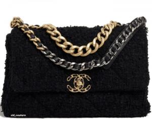 Chanel Black Tweed Large Chanel 29 Bag - Cruise 2021
