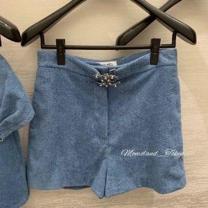 Chanel Blue Coco Bach Shorts