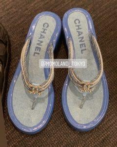 Chanel Blue Coco Beach Sandals