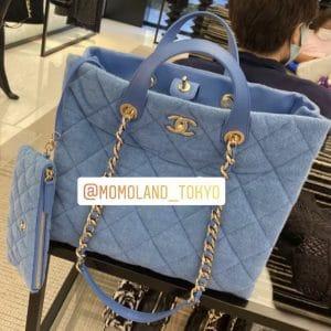 Chanel Blue Coco Beach Shopping Bag 3
