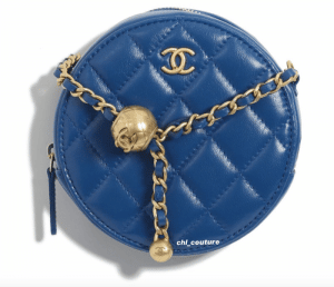 Chanel Blue Pearl Crush Clutch on Chain Bag - Cruise 2021
