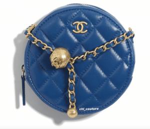 Chanel Blue Pearl Crush Clutch on Chain Bag - Cruise 2021