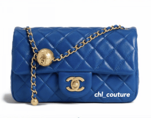 Chanel Blue Pearl Crush Mini Flap Bag - Cruise 2021