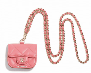 Chanel Coral Earpod Holder on Chain 2 - Cruise 2021.PNG