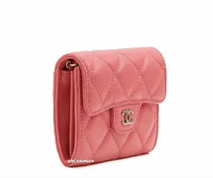 Chanel Coral Wallet - Cruise 2021
