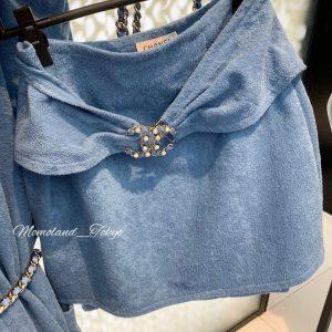 Chanel Blue Coco Beach Mini Skirt