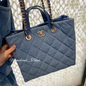 Chanel Blue Coco Beach Shopping Bag 2
