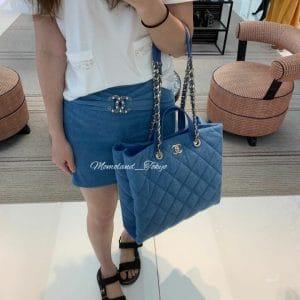 Chanel Blue Coco Beach Shopping Bag