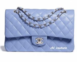 Chanel Light Blue Medium Classic Flap Bag - Cruise 2021