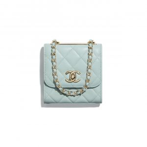 Chanel Light Blue Trendy CC Clutch with Chain Bag
