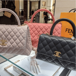 Chanel Lilac/Pink/Black Coco Handle Bags