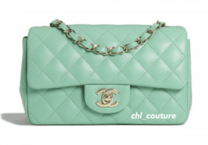 Chanel Mint Green Mini Classic Flap Bag - Cruise 2021