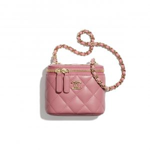 Chanel Pale Pink Mini Vanity with Chain Bag