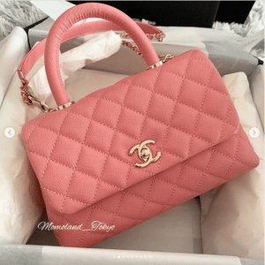 Chanel Pink Coco Handle Small Bag