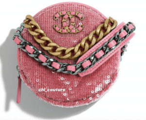 Chanel Pink Sequin Pearl Crush Clutch on Chain Bag - Cruise 2021