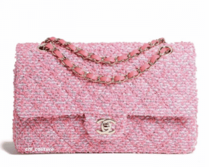 Chanel Pink Tweed Medium Classic Flap Bag - Cruise 2021