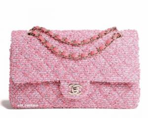 Chanel Pink Tweed Medium Classic Flap Bag - Cruise 2021