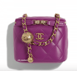 Chanel Purple Pearl Crush Mini Vanity Bag - Cruise 2021