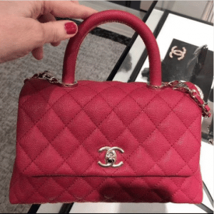 Chanel Red Coco Handle Small Bag