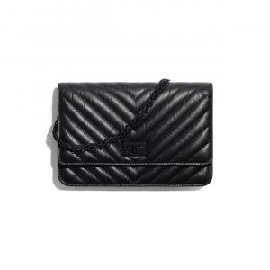 Chanel So Black 2.55 Reissue Wallet on Chain