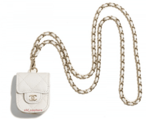 Chanel White Earpod Holder on Chain 2 - Cruise 2021.PNG