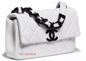 Chanel White with Black Hardware Flap Bag - Cruise 2021