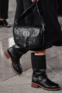 Dior Black Laser Cut Bobby Shoulder Bag 2 - Cruise 2021