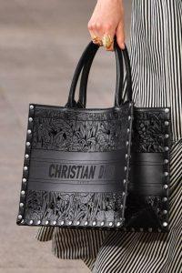 Dior Black Laser Cut Leather Book Tote Bag 2 - Cruise 2021
