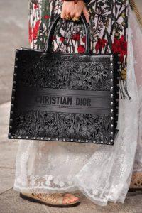 Dior Black Laser Cut Leather Book Tote Bag - Cruise 2021