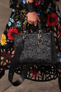 Dior Black Laser Cut Leather Lady Dior Bag 2 - Cruise 2021