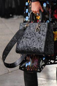 Dior Black Laser Cut Leather Lady Dior Bag - Cruise 2021