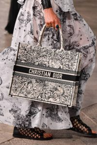 Dior Black/White Embroidered Book Tote Bag - Cruise 2021