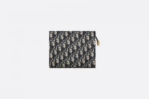 Dior Blue Dior Oblique Jacquard Pouch Bag