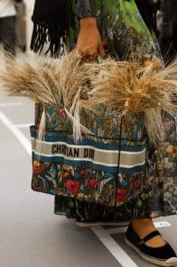 Dior Blue Multicolor Floral Catherine Tote Bag - Cruise 2021