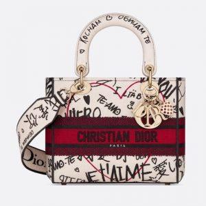 Dior Multicolor Dioramour Lady D-Lite Bag