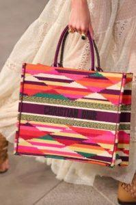 Dior Purple Multicolor Embroidered Book Tote Bag - Cruise 2021