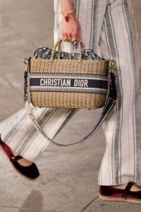 Dior Rattan Basket Tote Bag - Cruise 2021