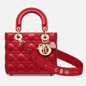 Dior Red Dioramour Lady Dior My ABCDior Bag