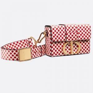 Dior Red Polkadot Dioramour 30 Montaigne Box Bag